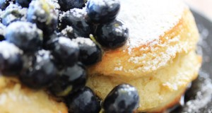 Lemon & Blueberry Shortcakes drizzled with Raw Honey