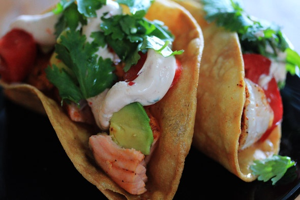 Shrimp & Salmon tacos