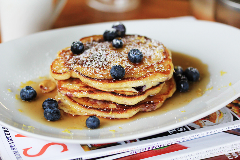 Blueberry & Lemon Buttermilk Pancakes
