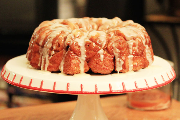 Homemade Monkey Bread with a Buttery Vanilla Glaze
