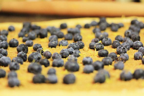 Lemon Glazed Blueberry Cinnamon Rolls