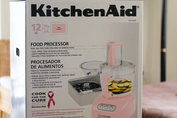 Pink Kitchenaid 750 12-cup Food Processor