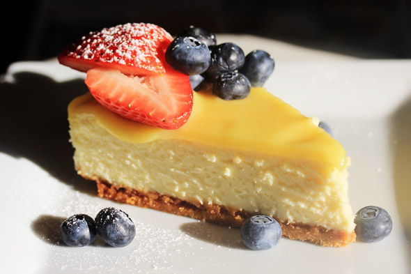 Meyer Lemon Cheesecake with Meyer Lemon Curd