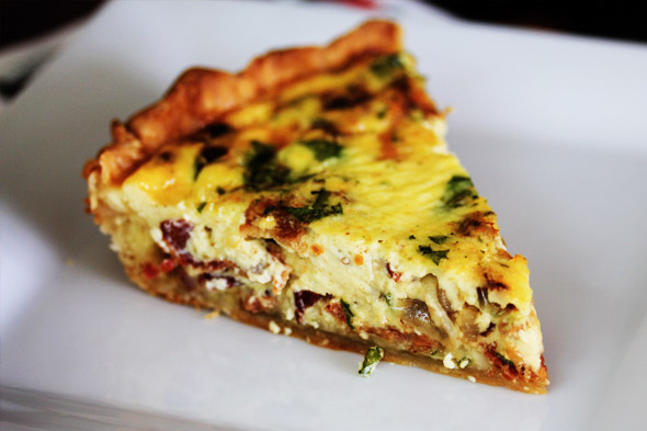 Bacon Gruyere and Shallot Quiche