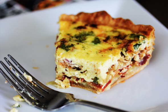 Bacon, Gruyere and Scallion Quiche