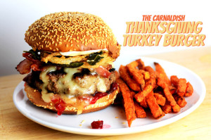 The CarnalDish Thanksgiving Turkey Burger