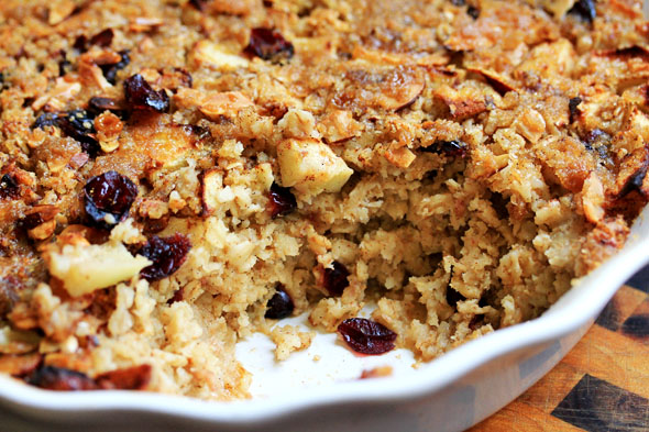 Baked Brown-Sugar, Apple & Cranberry Oatmeal | CarnalDish