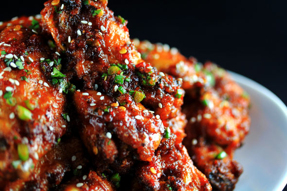 Sweet n Spicy Garlic Ginger Chicken Wings