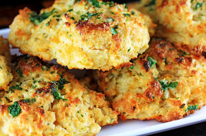 "Garlic & Herb Cheddar ""Bae"" Biscuits"