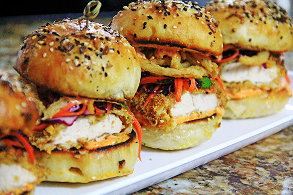 Oven Fried Chicken Sliders