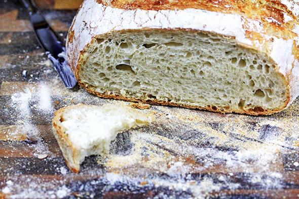 Crusty No-Knead Artisan Bread