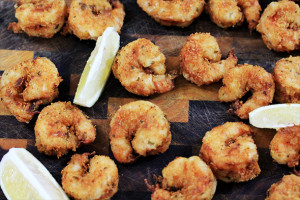 Lemony Buttermilk Fried Tiger Shrimp