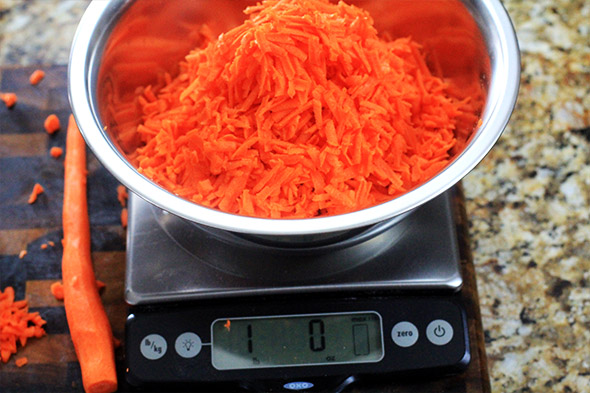 well...I used all but one of my carrots. see why kitchen scales are our friend?