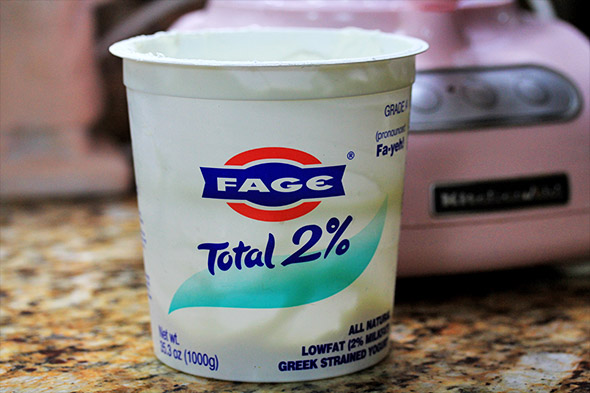 this is the greek yogurt i'm using. no, this isn't a sponsored post...this is just my favorite brand.