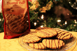 Chocolate Drizzled Peanut Butter Cookies