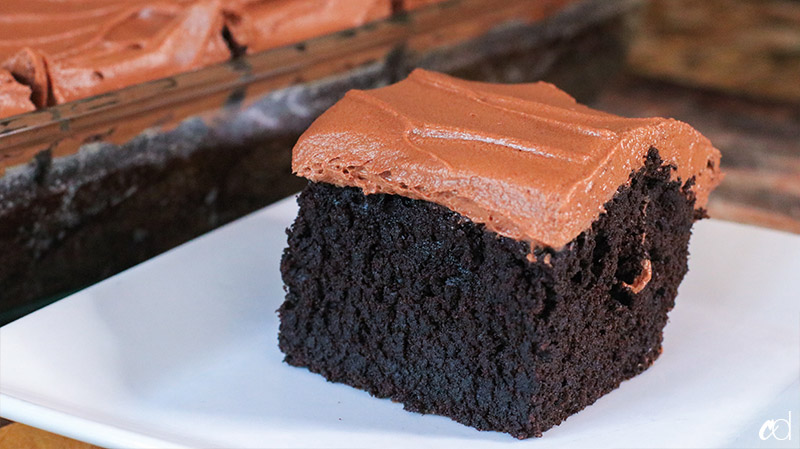 Chocolate Sheet Cake - PMS Cure