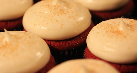 Red Velvet Cupcakes with Cream Cheese Buttercream