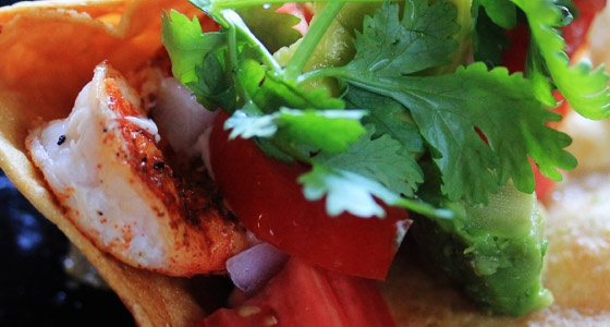 Crunchy Shrimp & Salmon Tacos