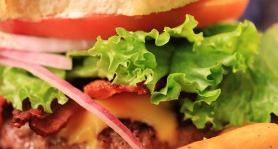 All American Bacon Cheeseburger & Garlic Fries