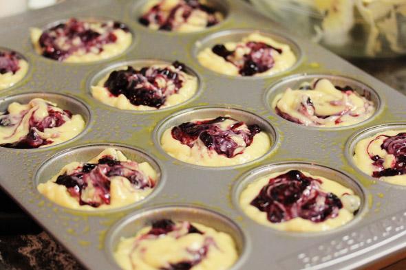 Lemon Sugar Crusted Blueberry Muffins