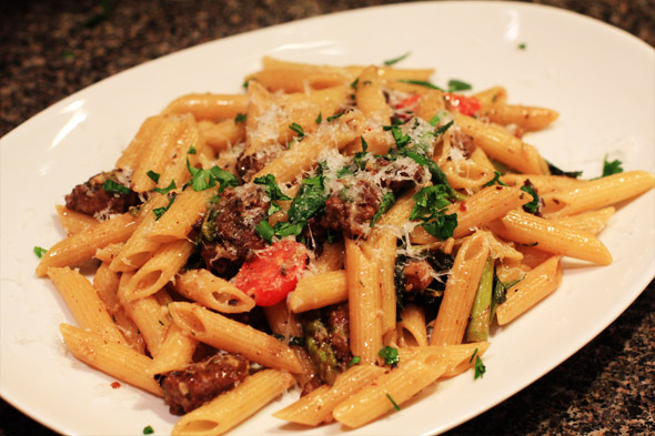 Sexy Sausage and Vegetable Pasta
