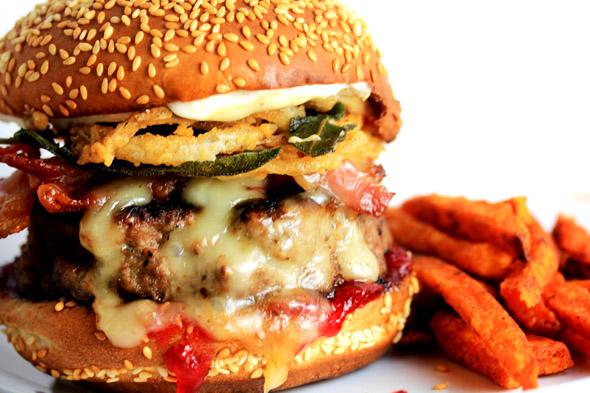 The CarnalDish Thanksgiving Turkey Burger