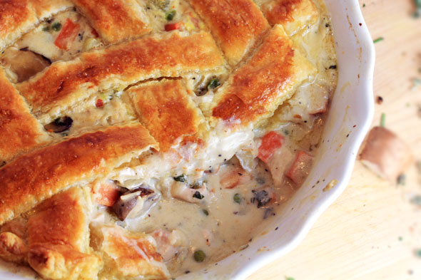 Creamy Turkey Pot Pie with Puff Pastry