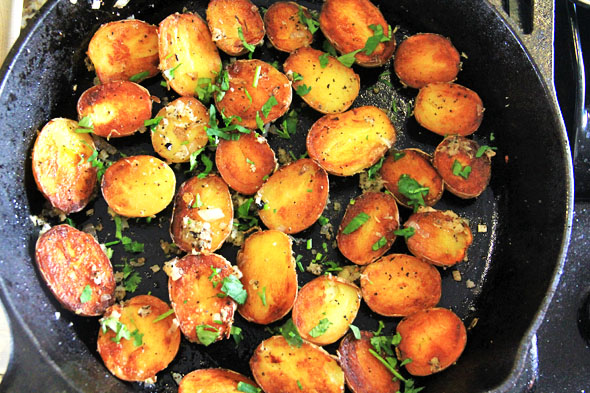 Garlic & Herb Duck Fat Baby Potatoes