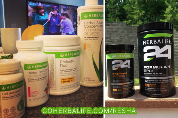 Here are some of the Herbalife products I used to help me lose the weight, along with a good diet and plenty of exercise.