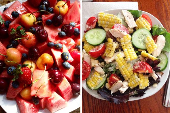 Siempre me han gustado las ensaladas, y las he comido muy a menudo. Muy poco aderezo, y un montón de ingredientes frescos.