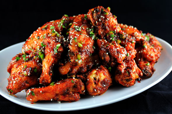Sweet-n-Spicy Garlic Ginger Chicken Wings