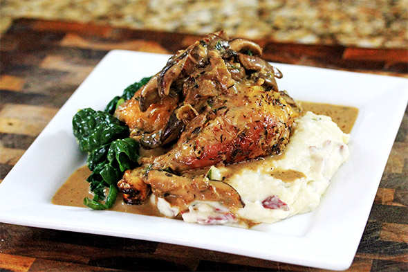 Roasted Chicken Marsala