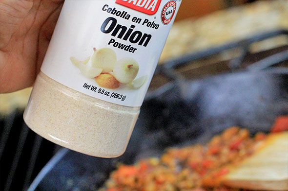 Can't neglect the other pantry-staple: granulated onion.