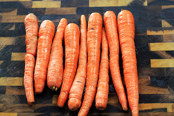 here are all the carrots I plan on using
