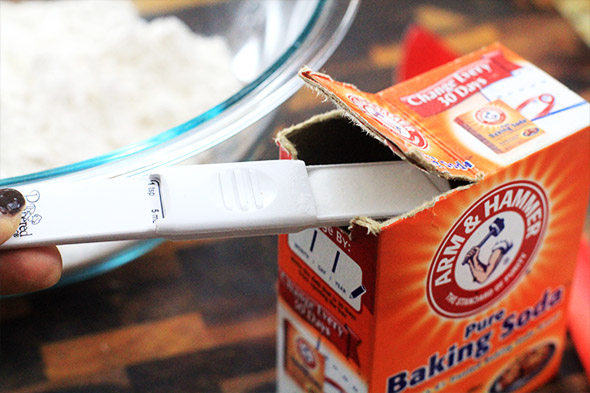 baking soda is also key..