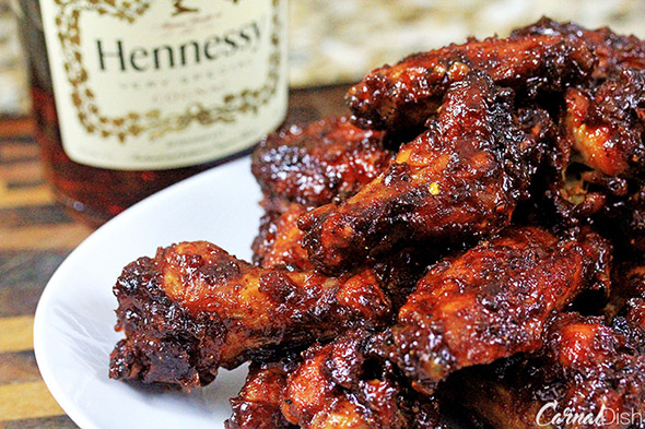 Orange-Henny BBQ Wings