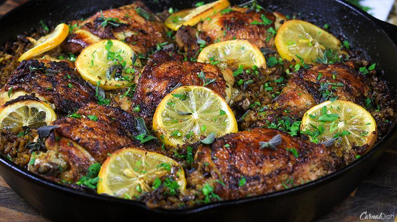 One-Pot Lemon Oregano Chicken and Rice