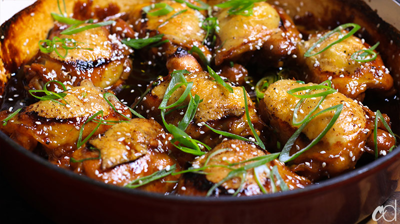 Soy Ginger and Garlic Braised Chicken