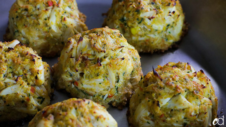Broiled Crab and Corn Cakes