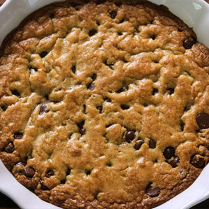 Brown Butter Chocolate Chip Pizookie
