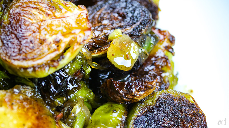 Miso Honey Brown Butter Brussel Sprouts
