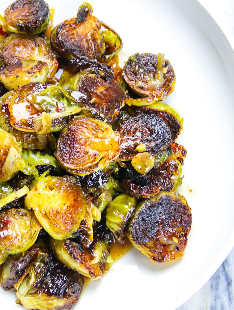 """Miso-Honey"" Brown Butter Brussel Sprouts"