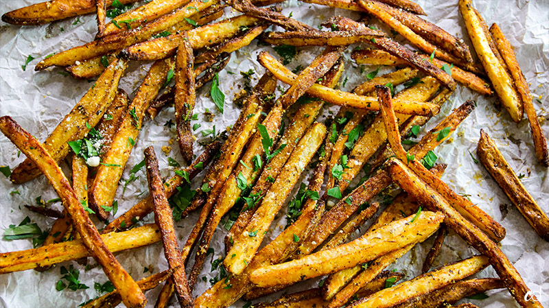baked parmesan herb fries
