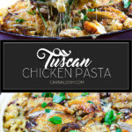 Garlic Tuscan Chicken Pasta