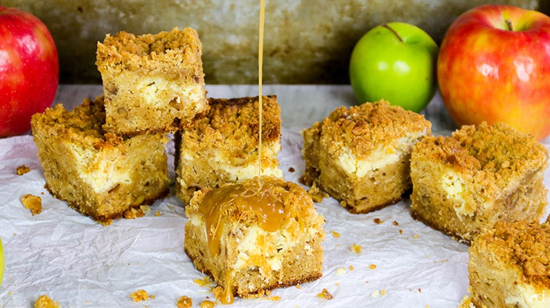 Dutch Apple Cheesecake Blondies