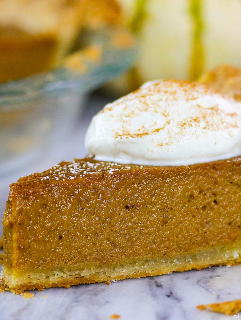 Bourbon Sweet Potato Pumpkin Pie