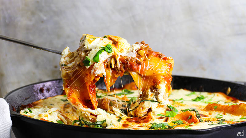 Easy Weeknight Skillet Lasagna