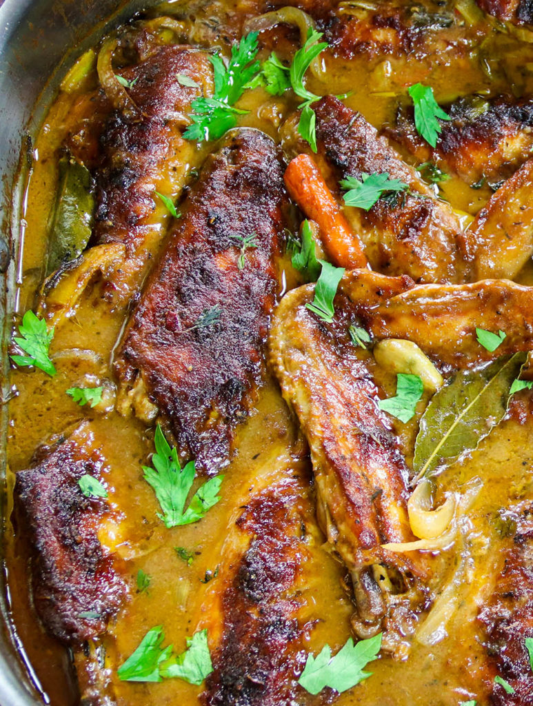 Roasted Turkey Wings with Creamy Marsala Gravy