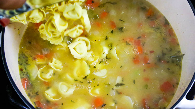 Creamy Chicken Tortellini Soup 18