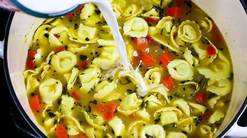 Creamy Chicken Tortellini Soup 20
